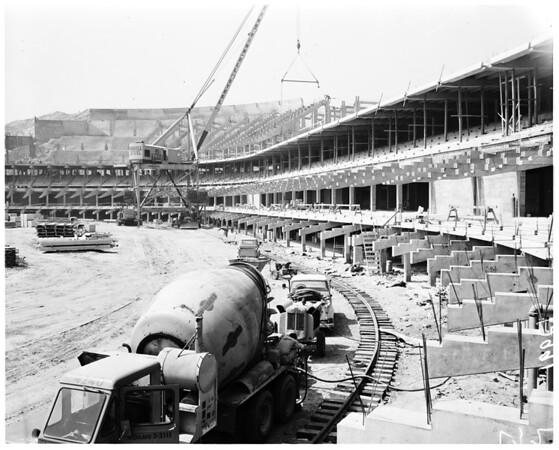 Chavez Ravine Dodger Stadium, 1961