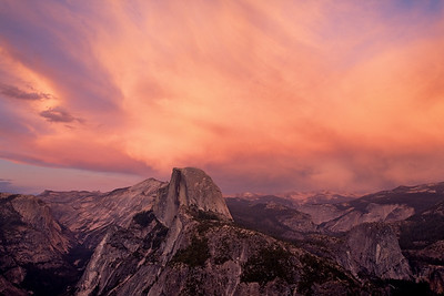 Fire on Half Dome