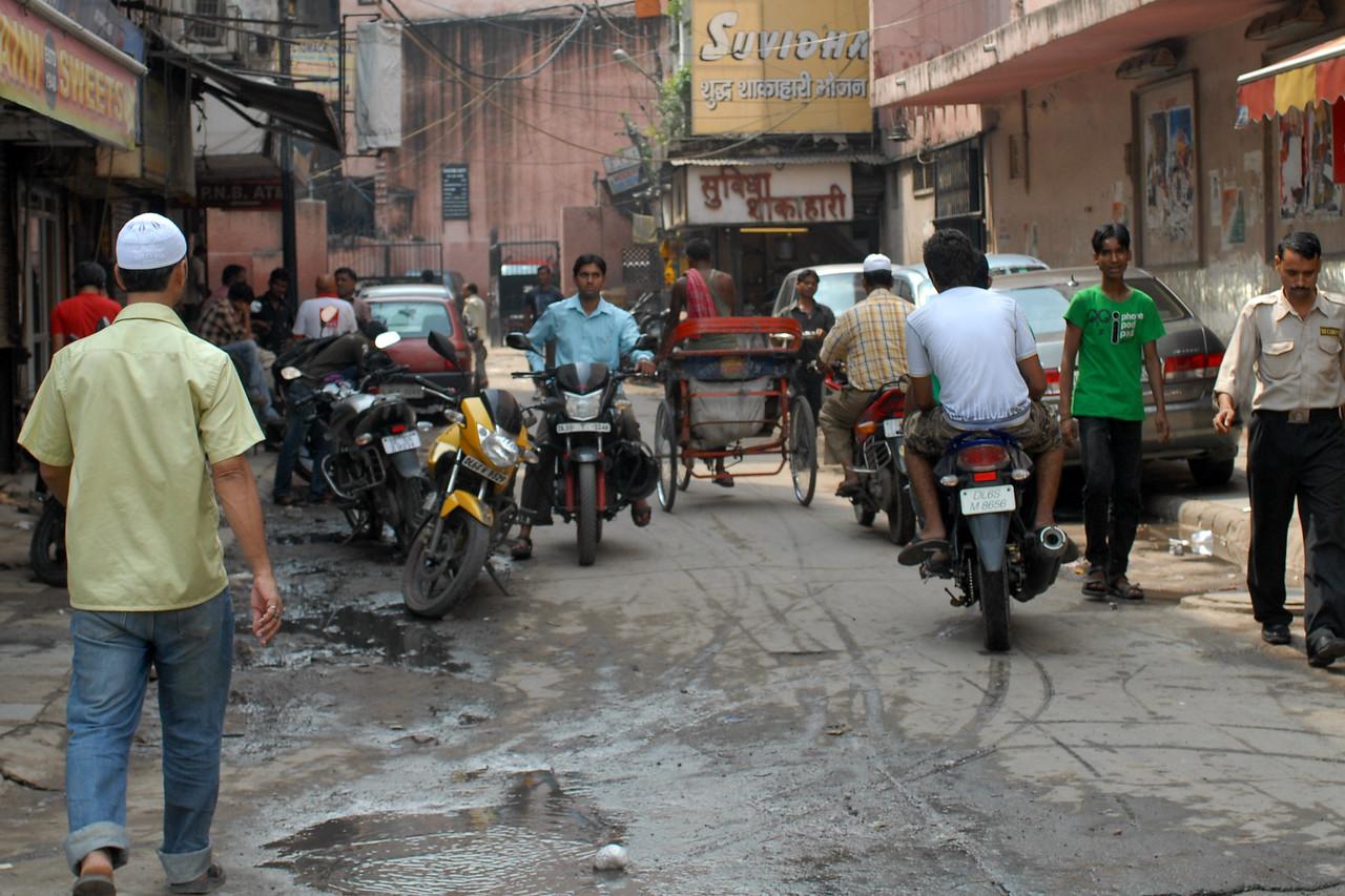 Old Delhi side street.