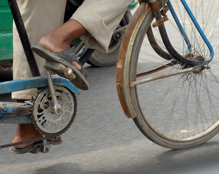 Rickshaw detail.