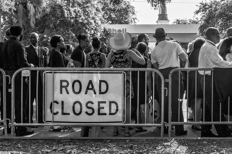 Yesterday Charleston had some major roads blocked off as thousands flocked to the area around Mother Emmanuel.