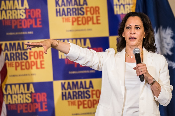 California Senator Kamala Harris speaks to potential voters, at Jerusalem Baptist Church, in Hartsville, SC on July 7, 2019. John A. Carlos II / Special to The Post and Courier