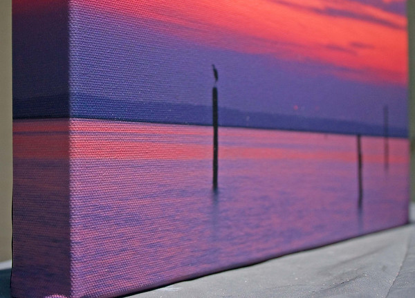 Close up example of a fine art canvas gallery wrap...makes for great art prints
