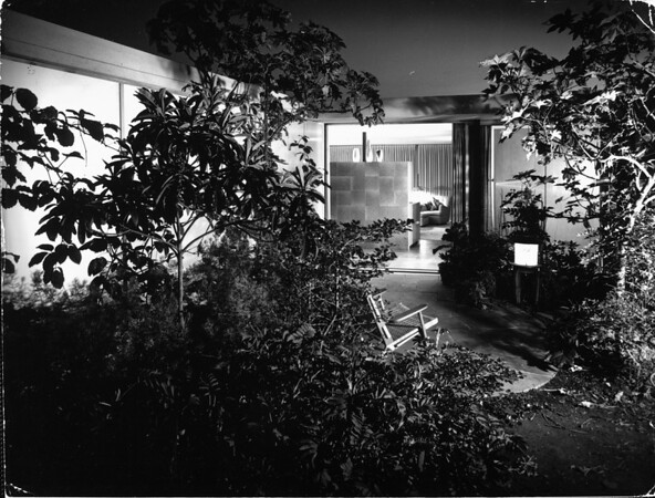 Interior view of the Julius Shulman House and Studio, Los Angeles, 1949-1950