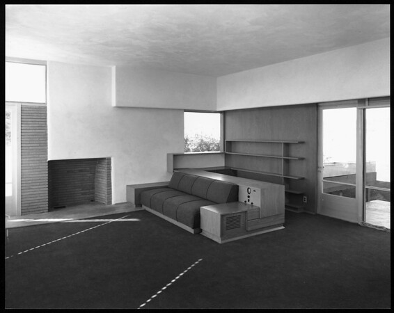 Interior view of the Fitzpatrick House, Los Angeles, 1936