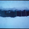 Close-up of a trench dug by researchers to study microbes living in ice fissures in the Antarctic, 1999