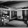 Interior view of the R.M. Schindler residence, West Hollywood (previously Sherman), 1921-1922