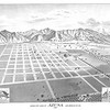 Birds eye view of Azusa, Los Angeles County, 1887