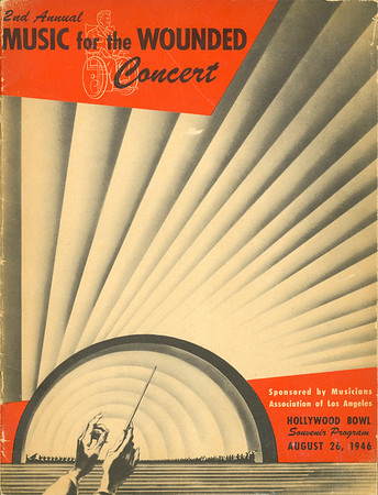"""Program for the Second annual """"Music for the wounded"""" concert, 1946"""