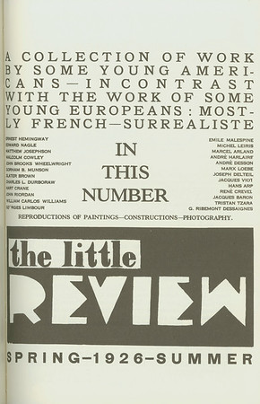 Cover of The little review, 1926
