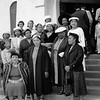 """Church Mothers"" on the steps of the First AME Church in South Central, Los Angeles, ca.1960s"
