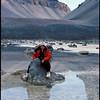 Ron Podmilsak at Don Juan Pond, Antarctica, 1980