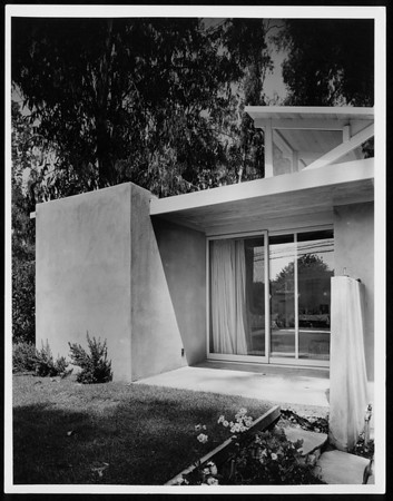 Exterior view of F. Pressburger residence, North Hollywood, 1945