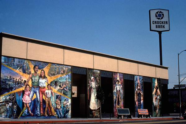 Chicano time trip, public mural, Los Angeles, 1977