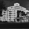 General view of the Shangri-La Hotel, Santa Monica, ca.1940
