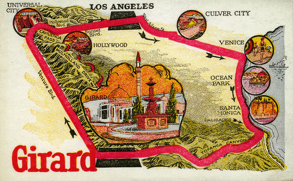 Facsimile of advertisement for the town of Girard, California, ca.1920s