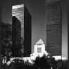 Los Angeles Central Public Library with the City National Bank Tower and Paul Hastings Tower in the background, Los Angeles, 1981
