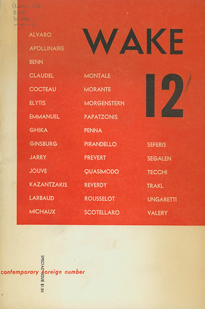 Cover of Wake, no. 12, 1953