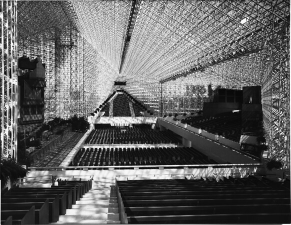 Interior of the Crystal Cathedral, Garden Grove, ca.1980