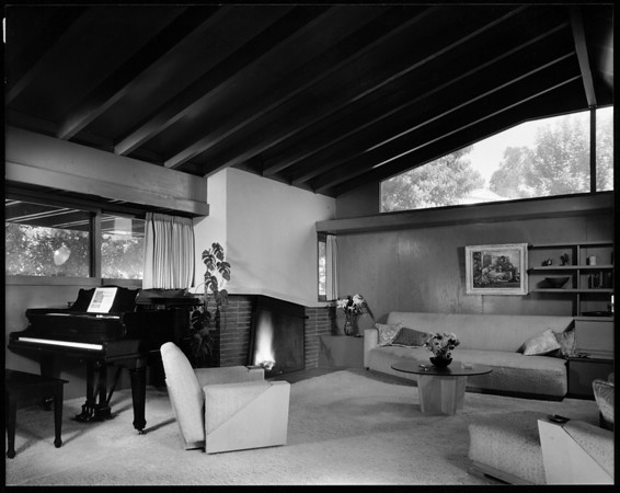 Interior view of the Druckman House, Los Angeles, 1941