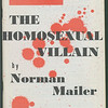 "Cover of One magazine featuring ""The homosexual villain"", by Norman Mailer, 1955"