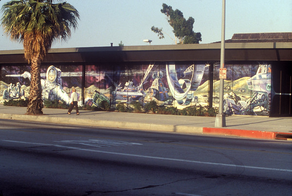 Moonscapes I: Tail of the comet, public mural, Los Angeles, 1978