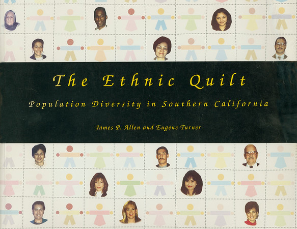 """Cover and two maps from """"The ethnic quilt"""" by Allen and Turner, 1997"""