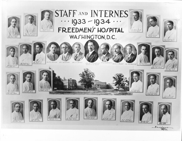 Staff and internes, 1933-1934, Freedmen's Hospital, Washington, D.C.