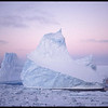 Iceberg in sea ice, near Antarctica, 1980s-1990s