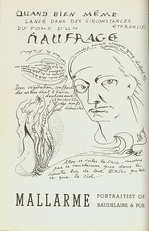 """Mallarmé: portraitist of Baudelaire & Poe"" by André Masson, [s.d.]"