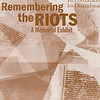 "Cover of ""Remembering the riots: a memorial exhibit"", 2002"