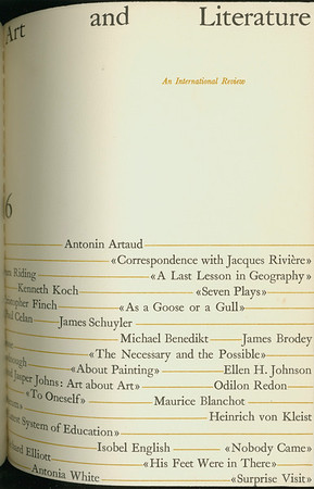 Cover of Art and literature, no. 6, 1965