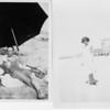 Photographs of Edwin Jefferson and Mattie Pearl Hawkins at Venice Beach [?], California, mid 1920's.