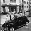 Main entrance to the Shangri-La Hotel, Santa Monica, ca.1940