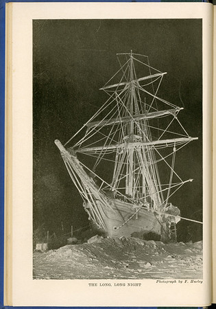 Sailing ship Endurance trapped and crushed by ice in the Antarctic, 1915