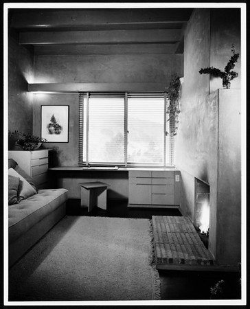 Interior view of the Goodwin House, Los Angeles, 1940