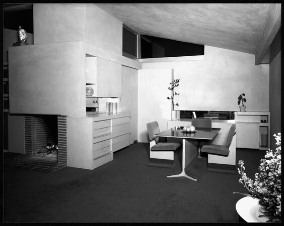 Interior view of the Walker House, Los Angeles, 1936