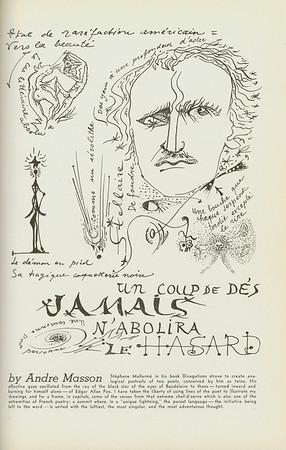 """""""Mallarmé: portraitist of Baudelaire & Poe"""" by André Masson, [s.d.]"""