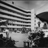 Inner court of the Shangri-La Hotel, Santa Monica, ca.1940