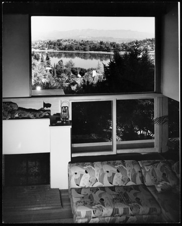 Interior view of the Droste House, Los Angeles, 1940
