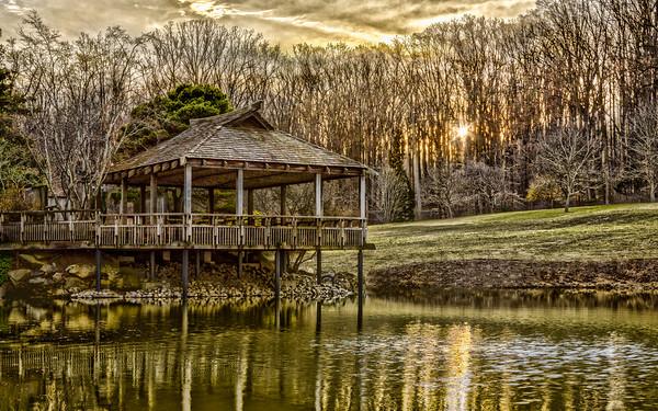 Pagoda at Winter's Sunset