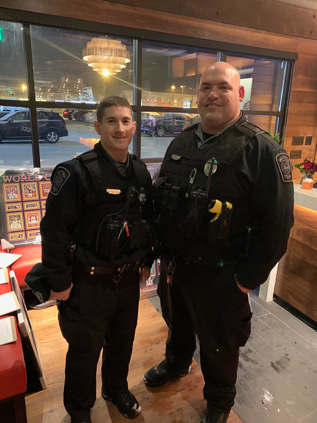 Two of Westford's finest, Officers Brett Fitzgerald and Bob Musto