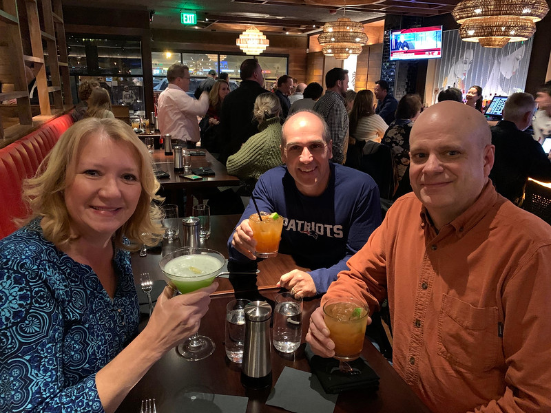 From left, Teresa Lambert, Dan Sierra and Grady Lambert, all of Groton
