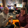 Mark Bronstein of Natick and Beth Parsons of Westford sip Kama's martinis.