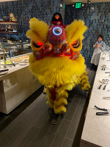 The Lion Dancers from?Boston's Chinatown entertain.