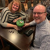 Deb and Randy Boles of Chelmsford enjoy a Green Scorpion Bowl.