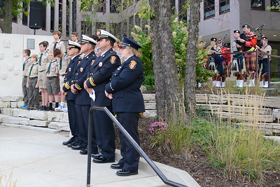 """9/11 Tribute Ceremony - 16th Year Anniversary - Naperville, Illinois - 2017 - Lanson W. """"Lanny"""" Russell was our guest speaker"""