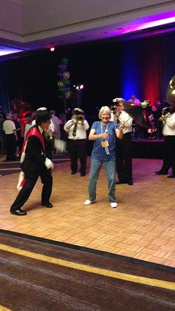Exchange Club of Naperville - Sandie Thomas at pening night entertainment at National Convention - 2014