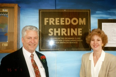 Exchange Club of Naperville - Freedom Shrine - April 7, 1995