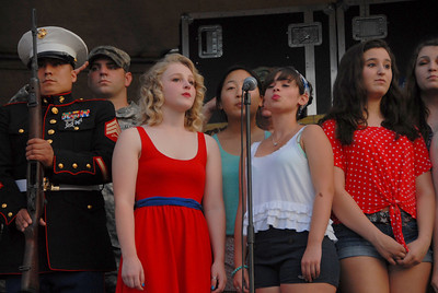Ribfest - Naperville, Illinois - July 3-7, 2013 - Honor Guard and National Anthem Singers
